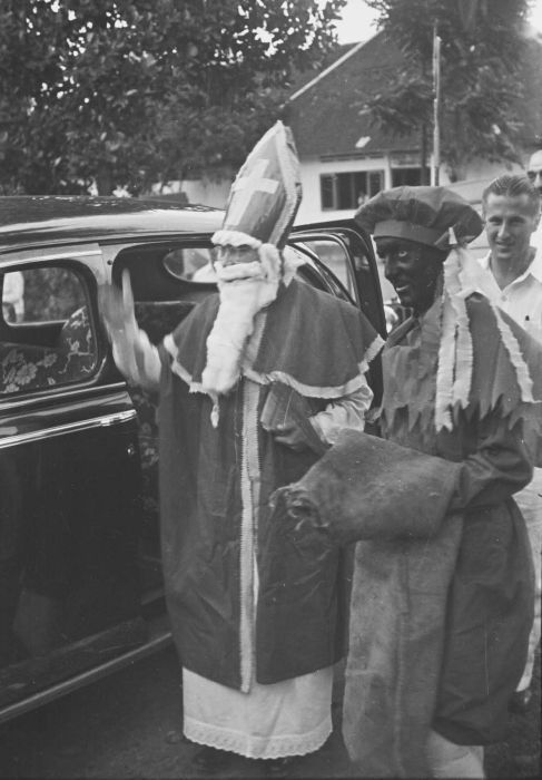 Black Pete and St. Nick circa 1948