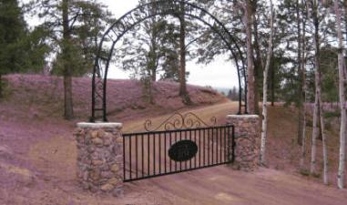 Entrance to Florissant Pioneer Cemetery
