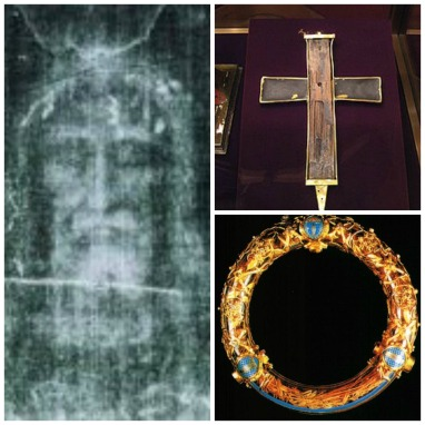 Shroud of Turin, Wood from the Cross of Christ, Crown of Thorns relic
