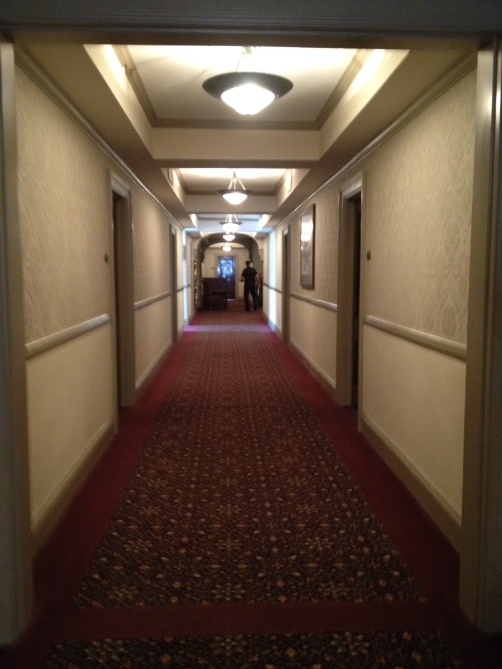 Hallway outside our room. No, that is not Zak Baggans.
