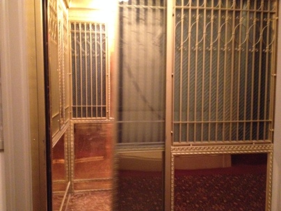 The original elevator. In King's story the elevator was operated by phantom party-goers.
