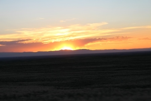 San Luis Valley at Sunset